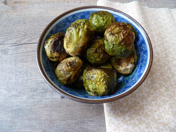 Roasted brussel sprouts with dill.