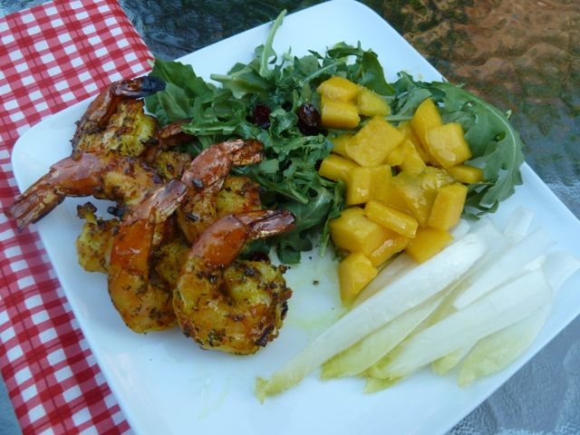 Shrimp and Mango Salad.