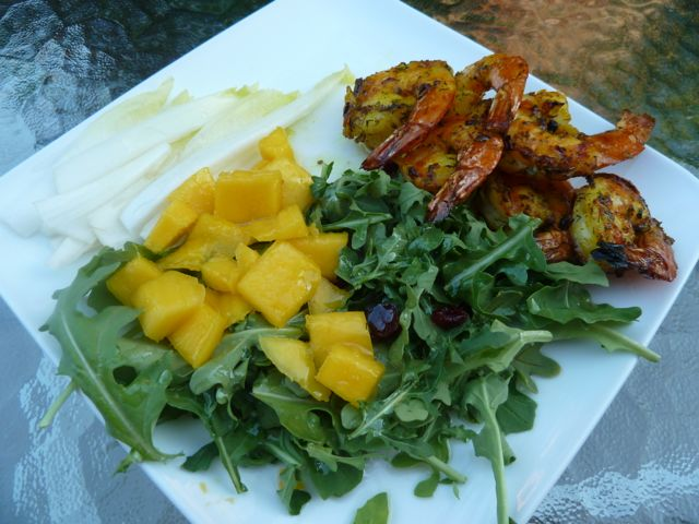 Shrimp and Mango Salad with Citrus Honey Vinaigrette.