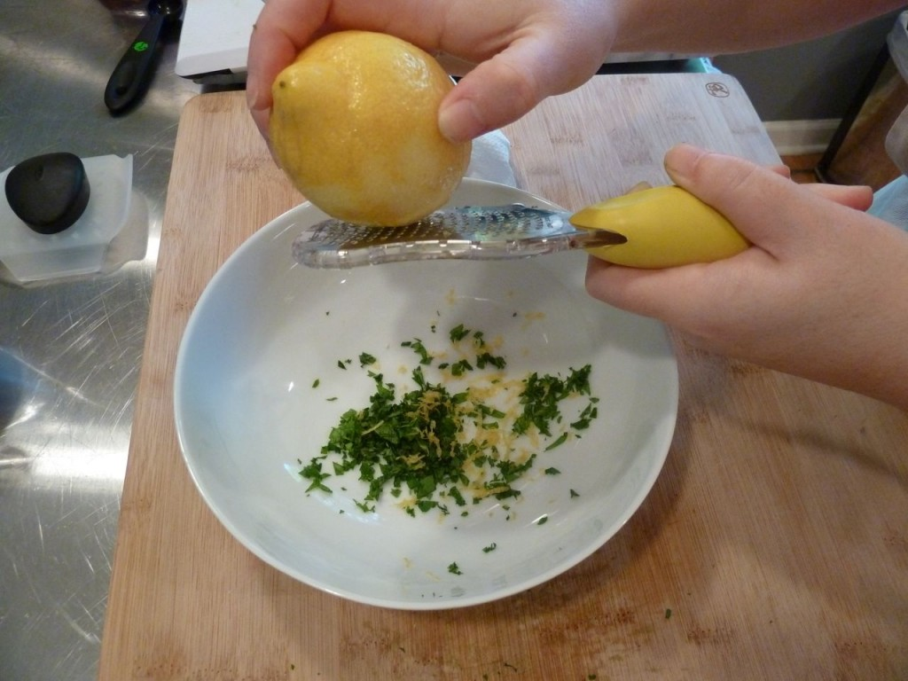 Add lemon zest.
