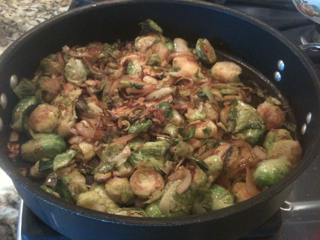 Braised brussel sprouts.