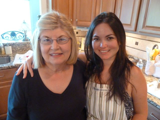 Me and my mother-in-law prepping dinner.