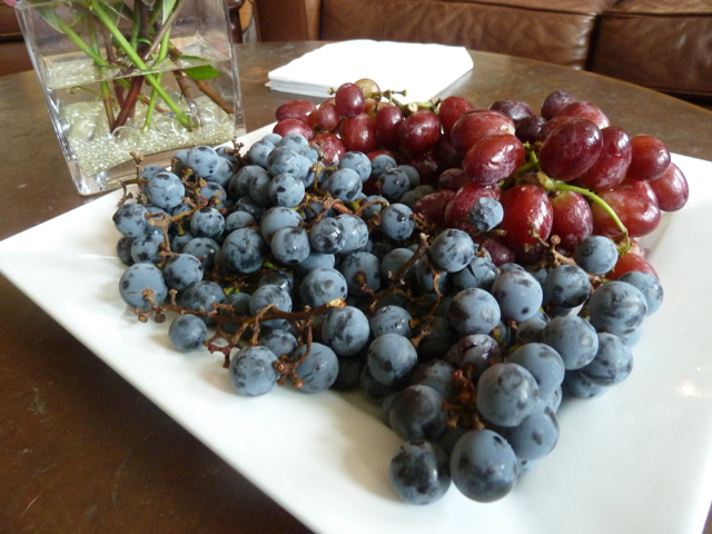 Concord grapes and red grapes fresh from the Farmers' Market.