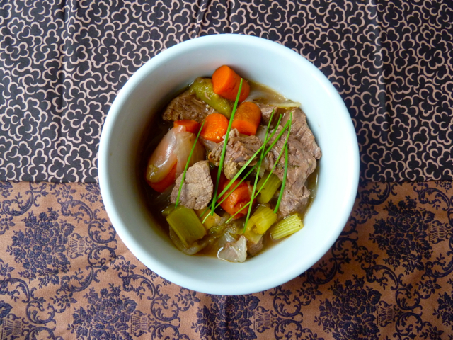 Beef Stew with Ginger and Tomatillo.